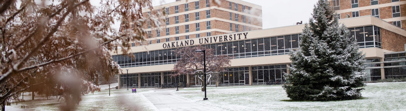 Oakland University Campus in Winter