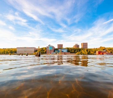 Michigan Tech view from water