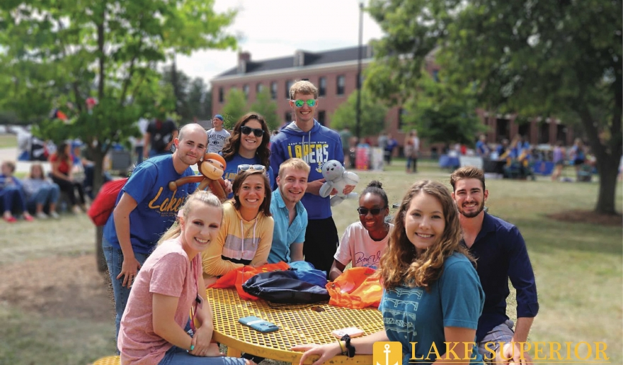 Lake Superior State Group of students